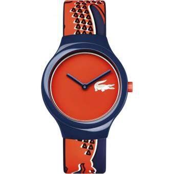 ราคา Lacoste LC2020113 นาฬิกาข้อมือผู้ชายและผู้หญิง สายซิลิโคน สีน้ำเงินเข้ม/ส้ม