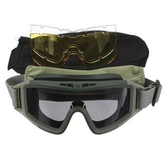 LD SHOP Protective Goggle Glasses with 3 Lenses for Motorcycle CSSports - Intl
