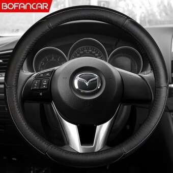 Leather steering wheel , for Mazda, atz, M6, rui wing, cx-5 / cx-4,unksyrah, M5 - intl