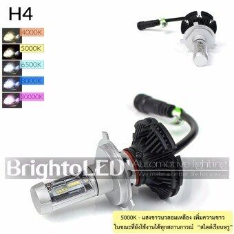 ไฟหน้า LED รถยนต์ Philips Chips 6000LM ขั้ว H4 [5000K]