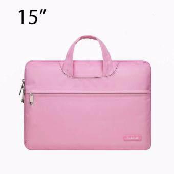 Lichto กระเป๋าถือ กระเป๋าใส่โน๊ตบุ๊ค Laptop กระเป๋าใส่เอกสาร ขนาด 14/15 นิ้ว สีชมพู