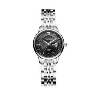 longbo women39s simple casual style stainless steel watchband round dial date calendar waterproof black amp silver 80079 1469599415 9239947 90e10b90b856296fa3ec21a213d6449f product ที่คุณสามารถซื้อ LONGBO Womens Simple Casual Style Stainless Steel Watchband Round Dial Date Calendar Waterproof Black   Silver 80079