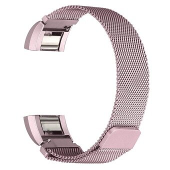 Magnetic Milanese Loop Watchbands Stainless Steel SmartwatchStrapWristwatch Band For Fitbit Charge 2 Watch Pink Gold - intl