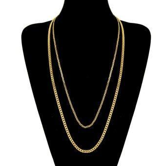 Men hip hop style popular necklace 5mm * 70cm - intl - 3