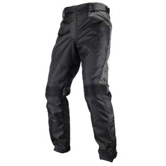 Men's Motorcycle Pants Moto Clothing Racing Oxford cloth WindproofTrousers Motocross Off-Road Protective Trousers 015-BK