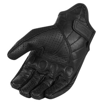Men's Perforated leather Motorcycle Mesh Gloves Black windproofwarm gloves - intl