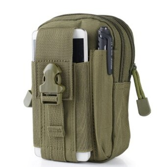 Men's Waist Bag Outdoor Sports Tactical Coin Purse Waist FannyPacks Waterproof Pouch Bag(Color:Army Green) - intl