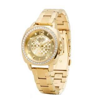 2561 Michael Kors Coach Women s 14501700 Mini Boyfriend Gold Tone Bracelet Watch(Black)