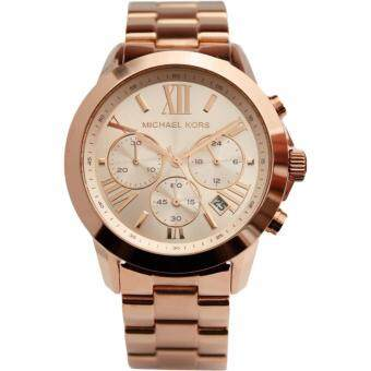 MICHAEL KORS Runway Chronograph Rose Gold-Tone Stainless Steel Men Watch MK5778