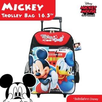 Mickey Mouse กระเป๋าเป้นักเรียนมีล้อ ไซส์L ลิขสิทธิ์แท้จาก Disney รุ่น62007