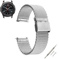 THB 351. Milanese Stainless Steel Solid Wire Mesh Band Strap For Gear S3 Classic ...