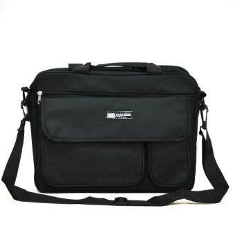 MilesKeeper กระเป๋าสะพาย สำหรับใส่เอกสารและโน๊ตบุ๊ค โมเดล sMSG03  (Black)