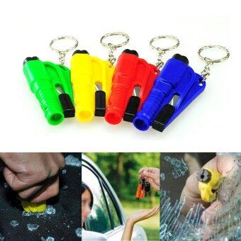 Mini Safety Keychain Car Emergency Rescue Glass Breaker HammerEscape Tool Multicolor - intl