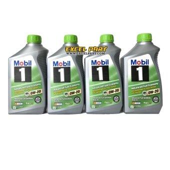 Mobil 1™ Advanced Fuel Economy 0W-20 Made in USA. 4 Quart (1 Qt946mL)