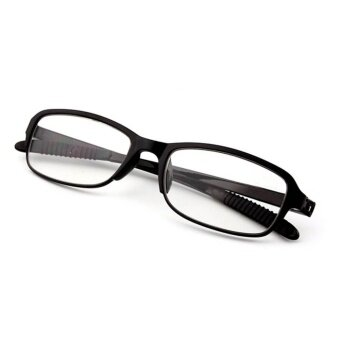 Moonar New TR90 Strength +1.50 Women Men Flexible Readers StrengthPresbyopic Reading Glasses ( Black ) - intl
