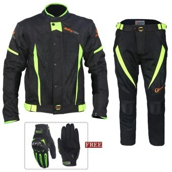 Motorcycle waterproof riding suit Racing suits (With gloves) - intl