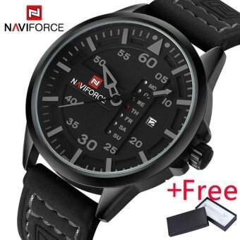 NAVIFORCE Luxury Brand Men Army Military Watch นาฬิกาข้อมือ es Men's Quartz Date Clock Man Leather Strap Sports Wrist Watch นาฬิกาข้อมือ