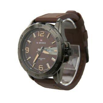 NAVIFORCE นาฬิกาข้อมือผู้ชาย สีน้ำตาล สายหนังแท้ รุ่น NF9055-BROW - 2