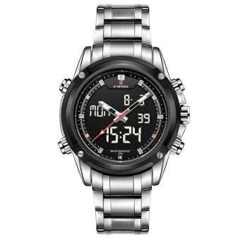NAVIFORCE WATCH นาฬิกาข้อมือผู้ชาย เครื่องญี่ปุ่น กันน้ำ100% สายแสตนเลสแท้ รุ่น NF9050WB