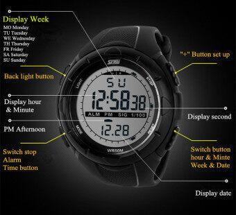 ***NBS Christmas Gift*** Skmei 1025 นาฬิกาดิจิทัล (สีดำ) + Free Box (image 2)