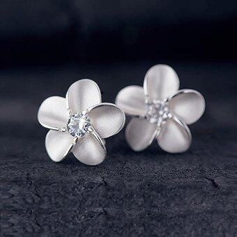 New Chic Fashion Women's 925 Sterling Silver Flower Type Ear Stud Earrings Gift - intl