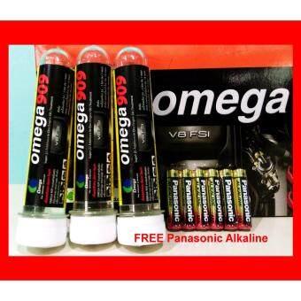 Omega909 3 หลอด Free Panasonic Alkaline 6 ก้อน