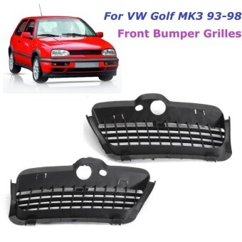 Pair Front Bumper Lower Grilles R&L Sides For VW Golf MK3 93-98 #1H685366601C - intl