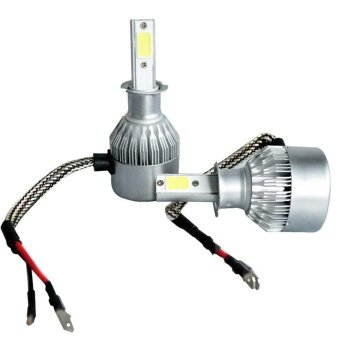 Pair H3 9-32V White LED Headlight Blubs Replacement 200W 20000LM 6500K - intl รูบที่ 4