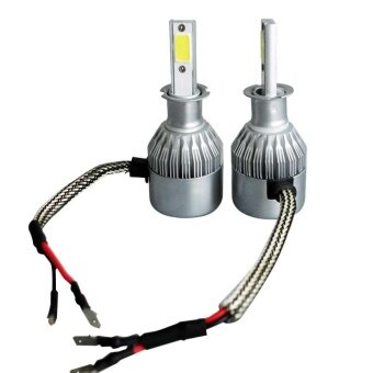 Pair H3 9-32V White LED Headlight Blubs Replacement 200W 20000LM 6500K - intl รูบที่ 2