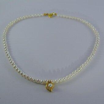 Pearl Jewelry สร้อยไข่มุกแท้จี้หัวใจ Pearl Heart