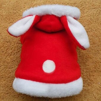 Pet coat rabbit with dog clothes - Red L - intl