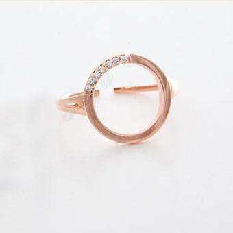 Poca Gems   RingsRound/PinkGold-(/) Poca - 3