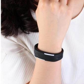 Poca Watch นาฬิกาข้อมือ LED สีดำ สายเรซิ่น กันน้ำได้ ซื้อ 1 แถม1มุลค่า89บาท - 2