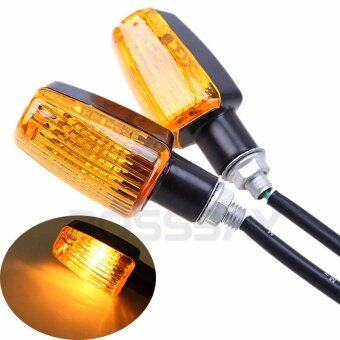 Harga POSSBAY 2Pcs Motorcycle Turn Signals Light For Honda CB400 CB1300CB 400 CB 1300 Amber Lights - Intl
