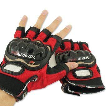 PROBIKER ถุงมือ MCS-04 (ครึ่งนิ้ว) ลิขสิทธิ์แท้ สีแดง