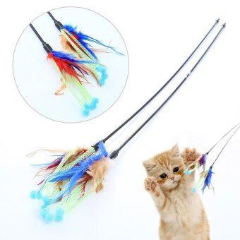 เปรียบเทียบราคา ใหม่ผลิตภัณฑ์สัตว์เลี้ยงแมวของเล่นคันเบ็ดประเภทไก่แมวเล่นกัน