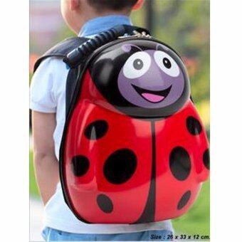 กระเป๋าเด็ก กระเป๋าเป้เด็ก กระเป๋าสะพายหลังเด็ก กระเป๋าเด็ก เป้เด็ก : ลายเต่าทองสีแดง