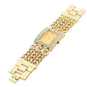 สายโซ่ผู้หญิงผสมระบบควอตซ์นาฬิกาข้อมือ (ทอง) (image 4)