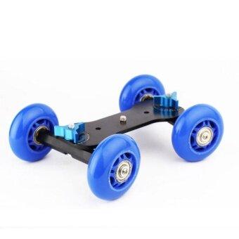 Rail Rolling Track Slider Skater Table Dolly Car 4-Wheel For DSLRCamera - intl รูบที่ 3