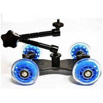 Rail Rolling Track Slider Skater Table Dolly Car 4-Wheel For DSLRCamera - intl รูบที่ 2