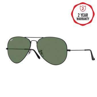 Ray-Ban แว่นกันแดด รุ่น Aviator Large Metal Ii RB3026 - Black (L2821) Size 62 Crystal Green