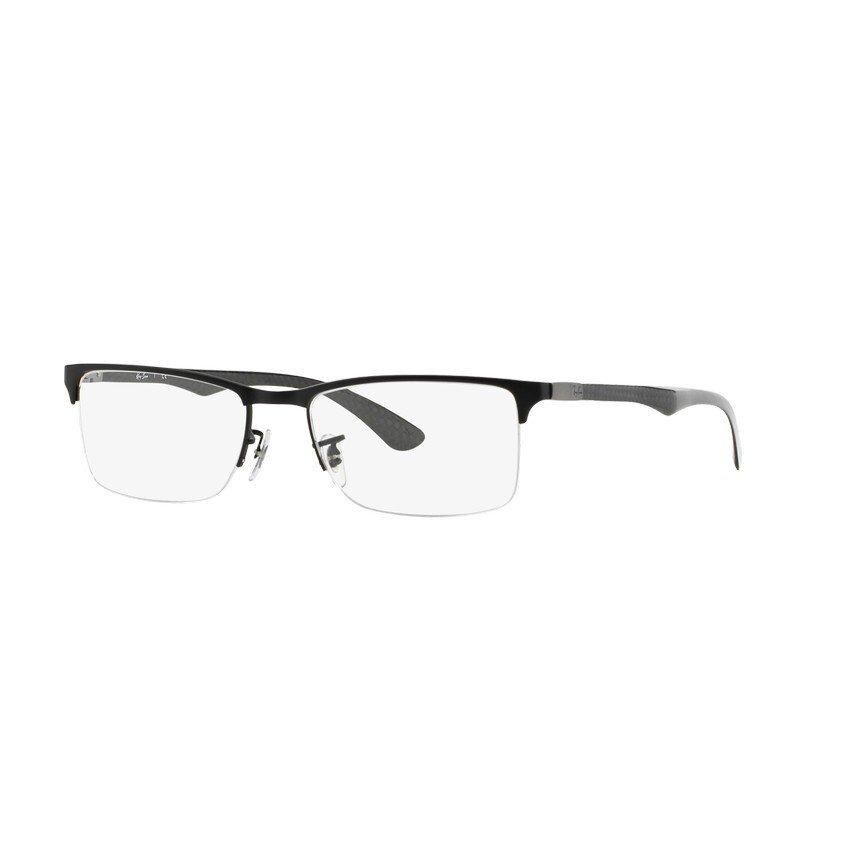 Ray-Ban แว่นสายตา รุ่น - RX8413 - Matte Black (2503) Size 54 Demo Lens