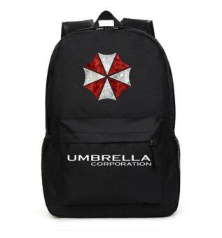 Resident Evil Backpack Shoulder Student Rucksack Travel SchoolbagLaptop Bags(Black)