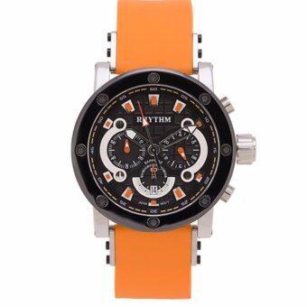 ซื้อ/ขาย RHYTHM นาฬิกาข้อมือชาย รุ่น I1203R08 สายยางซิลิโคนสีส้ม