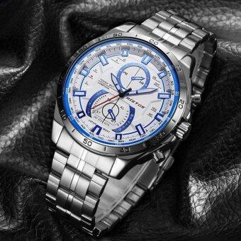 RISTOS Cool Stainless Steel Strap Round Business Sport Quartz Watch For Man's Fashion 9325 - intl