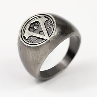 Rorychen 9 # Assassin's Creed Logo Ring Retro Fashion Personal Rings - intl