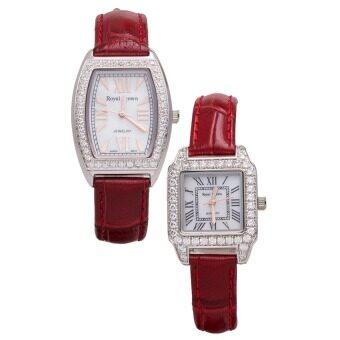 ซื้อ/ขาย Royal Crown นาฬิกาข้อมือผู้หญิง สีแดง สายหนัง รุ่น 3635L + Royal Crown นาฬิกาข้อผู้หญิง สีแดงสายหนัง รุ่น 6104L (แพคคู่)