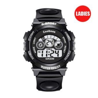 S SPORT นาฬิกาข้อมือ หญิง-เด็ก กันน้ำได้ดี CX0119 (Black)