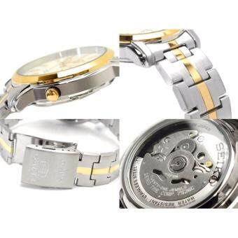 SEIKO 5 Automatic TwoTone Silver Dial Stainless Steel Men's Watch รุ่น SNKL84K1 (7S26-03S0SG)(Silver) ลาซาด้า