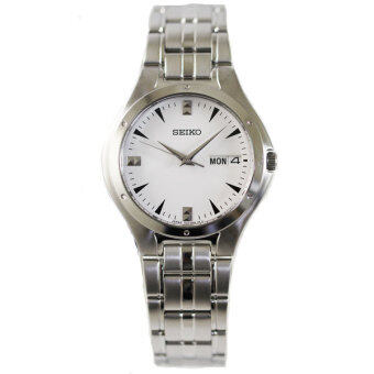 ประเทศไทย SEIKO นาฬิกา ควอทซ์ Gent boy size SGG757J1 (เงิน/ขาว)